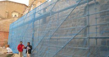 Ángel Varea visita las obras de la Muralla