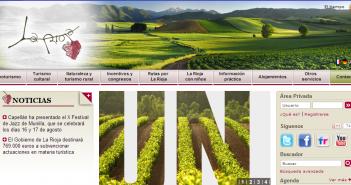 Página web actual de La Rioja Turismo
