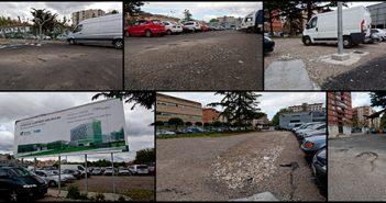 Estado actual del parking del solar del San Millán en Logroño