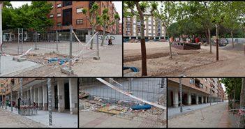 Estado actual de las obras en la Plaza 1º de Mayo en Logroño