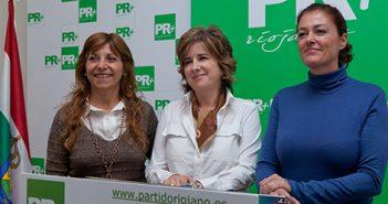 Montse Bañares, Marga Aldama y Natalia Sobrón, PR+