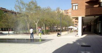 obras en la Plaza Primero de Mayo